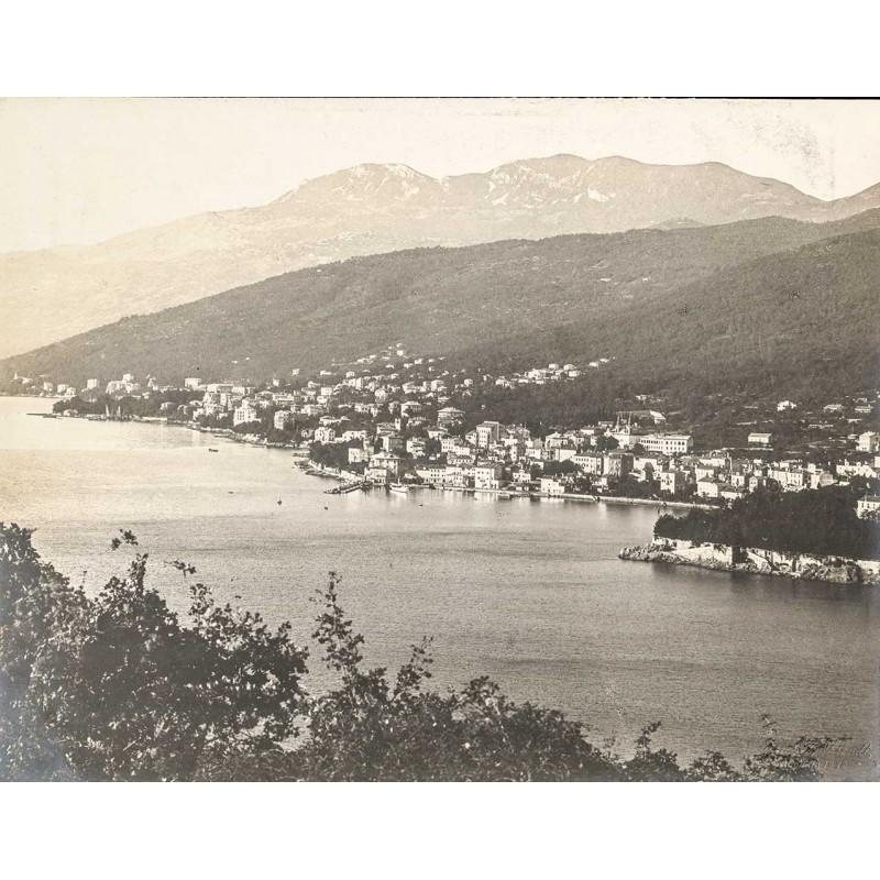 Abbazia (Opatija, St. Jakob) / Kroatien mit Monte Maggiore. Original-Fotografie (1912)
