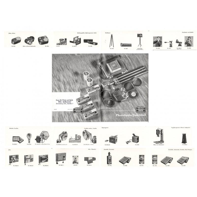 ZEISS IKON, Dresden: PHOTOBEDARFSARTIKEL. Katalog aus dem Jahr 1938