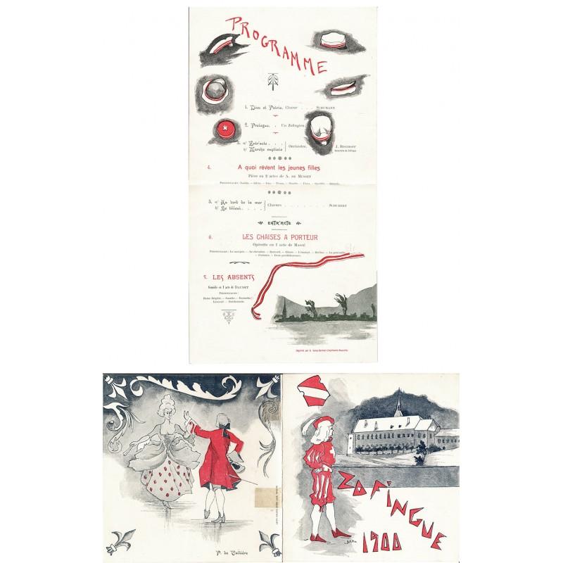Schweizerische Zofingerverein (Zofingia): Programm der Zusammenkunft 1900.