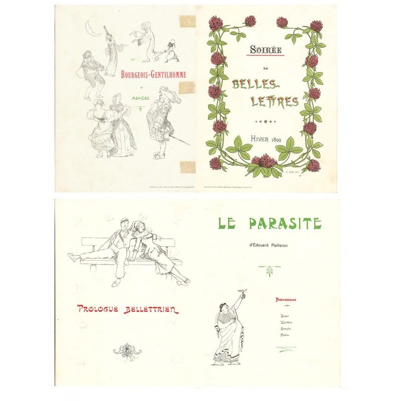 Schweizerische Zofingerverein (Zofingia): Programm der Zusammenkunft 1899: Soiree de Belles-Lettres. Hiver 1899