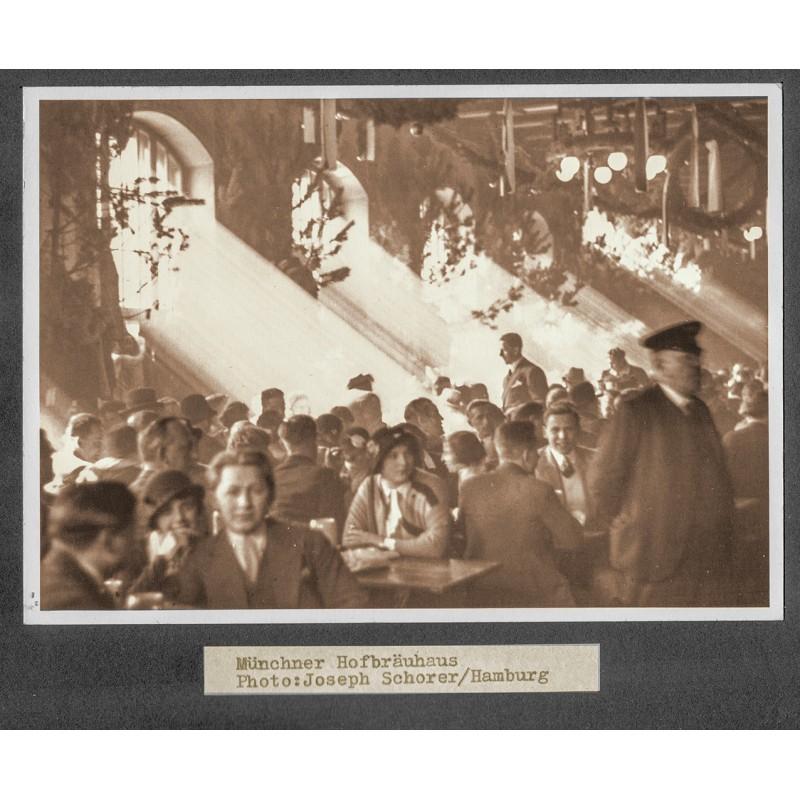 Schorer: Münchner Hofbräuhaus. Original-Fotografie (1920er Jahre - Abzug 1950er Jahre)