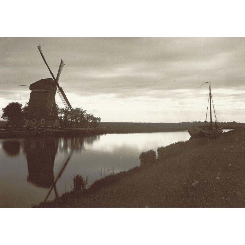 Kreyenkamp: Niederlande. Idyll mit Windmühle. Original-Fotografie (1920er Jahre, Abzug 1950er)