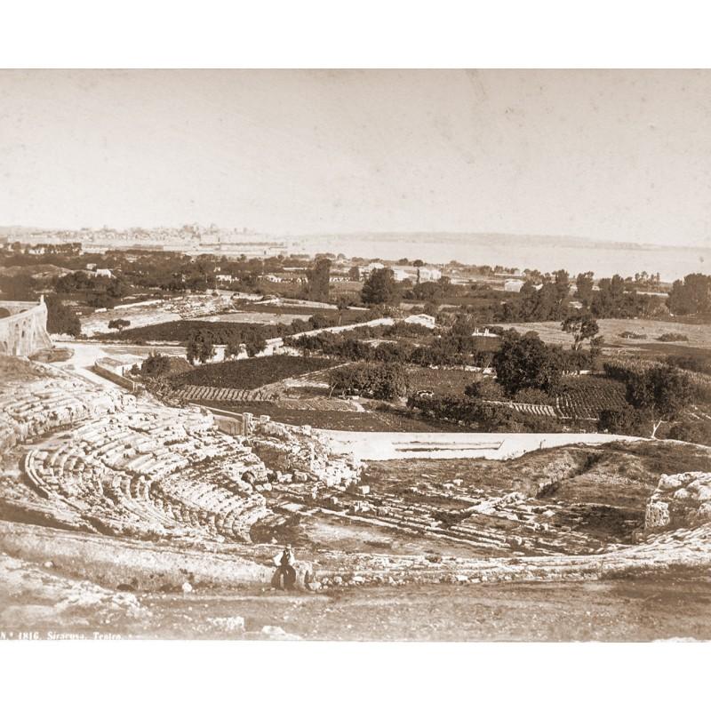 Anonymer Fotograf: Sizilien - SIRACUSA. THEATRO. Albumin-Abzug (ca. 1880).