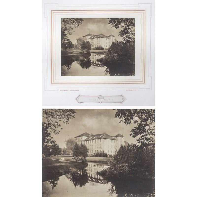 Bad Wurzach - MENCKE, A. (Fotograf und Verleger): Schloss Wurzach. Original-Fotografie (vor 1870).
