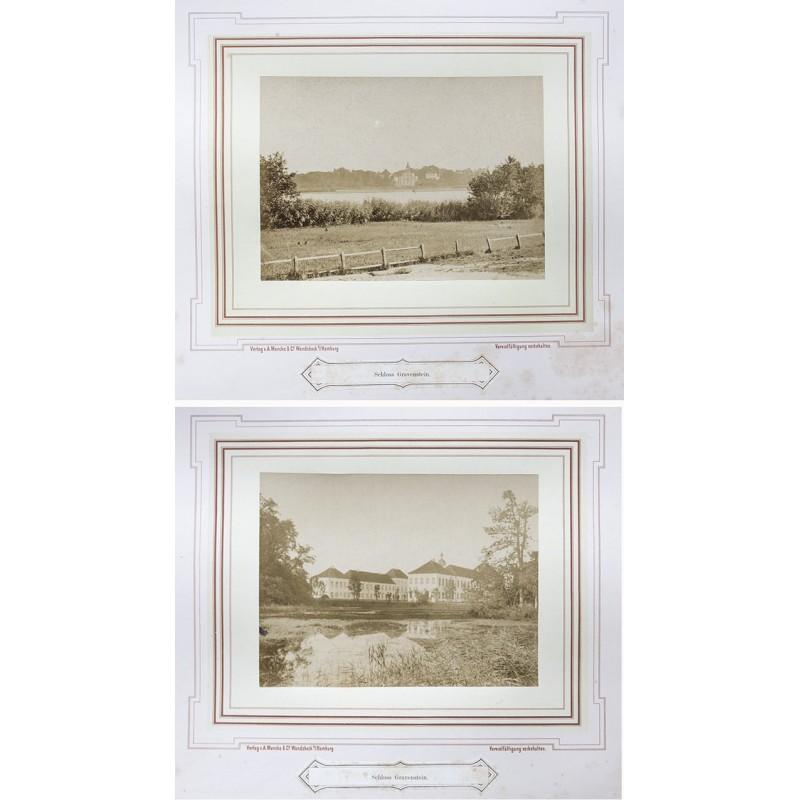 Dänemark / Gravenstein - MENCKE: Königliches Schloss Gravenstein. Zwei Orignal-Fotografien (vor 1870)