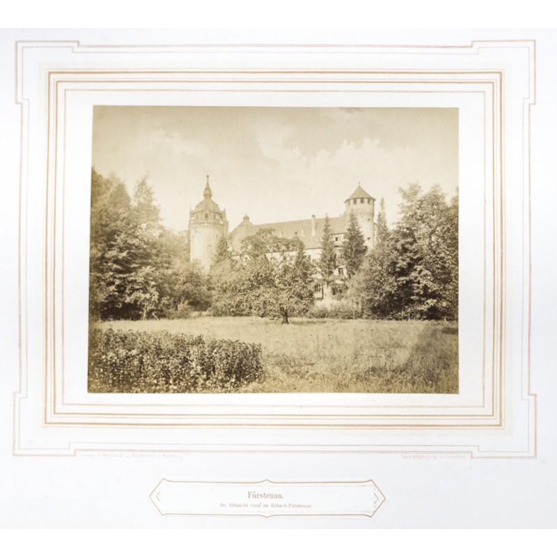 MENCKE: Schloss Fürstenau. Original-Fotografie. Albumin Abzug (ca. 1870)