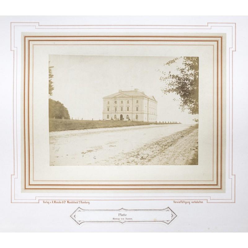 MENCKE: Jagd-Schloss Platte. Original-Fotografie. Albumin Abzug (ca. 1870)