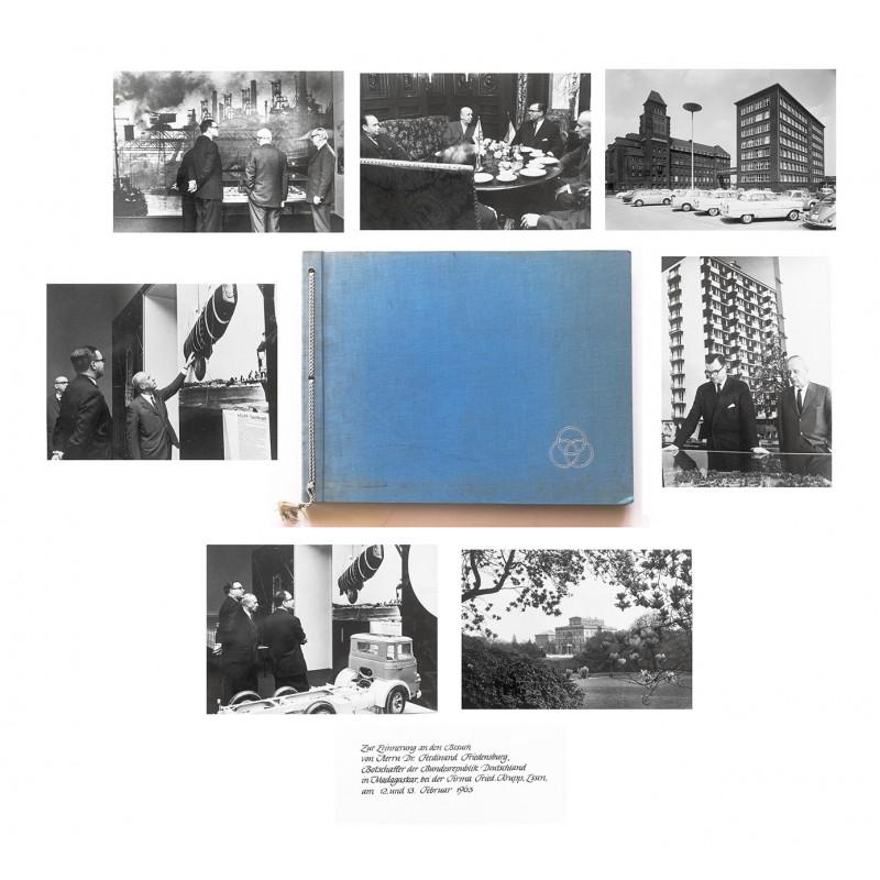 Friedrich Krupp-Werk, Essen: Foto-Album mit 16 Original-Fotografien (1963)