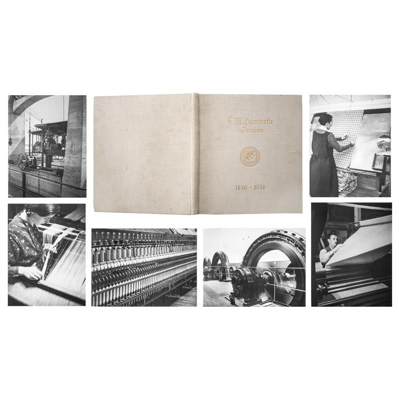 Hans FINSLER Industrie-Fotografie: Hundert Jahre F.M. Hämmerle 1836 - 1936.