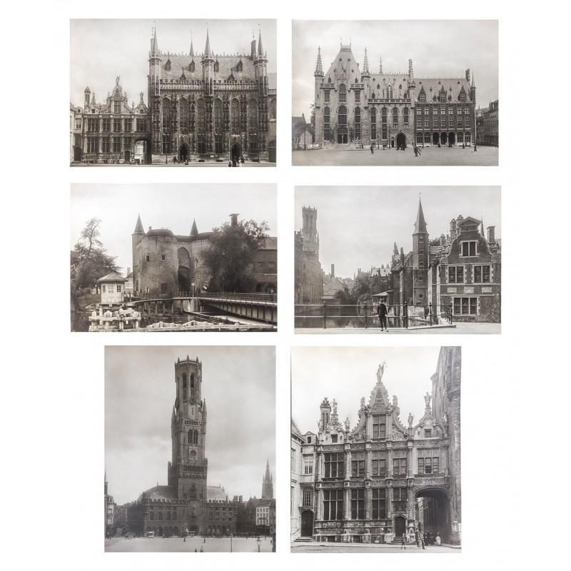Neue Photographische Gesellschaft:: Brügge / Bruges. 6 Original-Fotografien (ca. 1905)