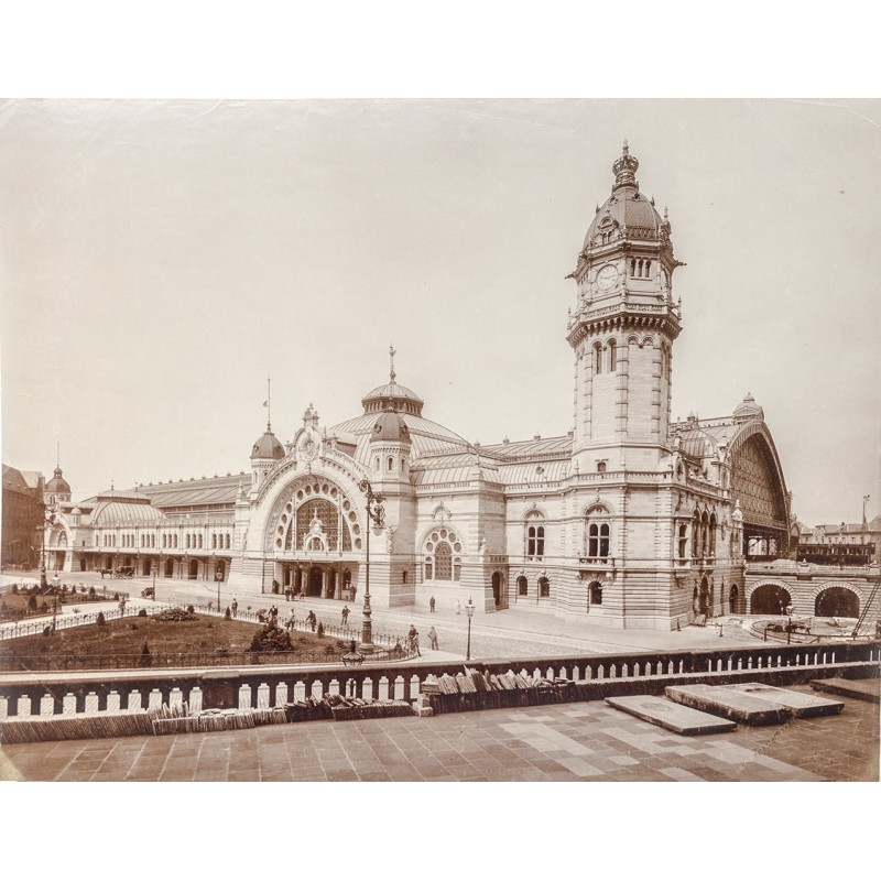 Köln. Hauptbahnhof. Original-Fotografie. Albuminabzug (ca. 1895)