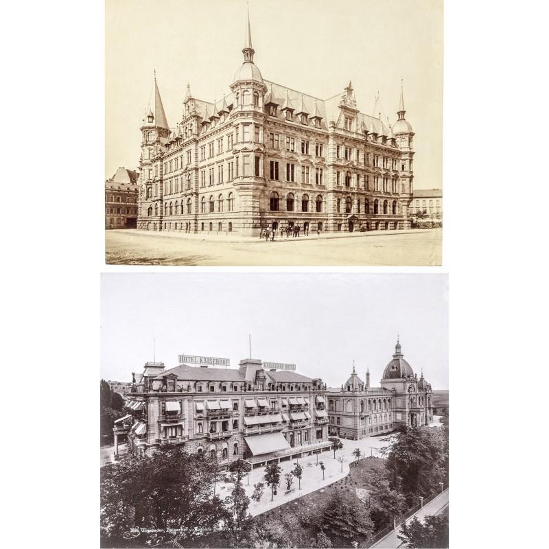 Wiesbaden. Zwei historische Fotografien (ca. 1890)