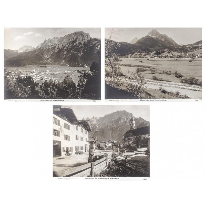NPG:MITTENWALD: Drei Original-Fotografien auf mattem Fotopapier (ca. 1900)