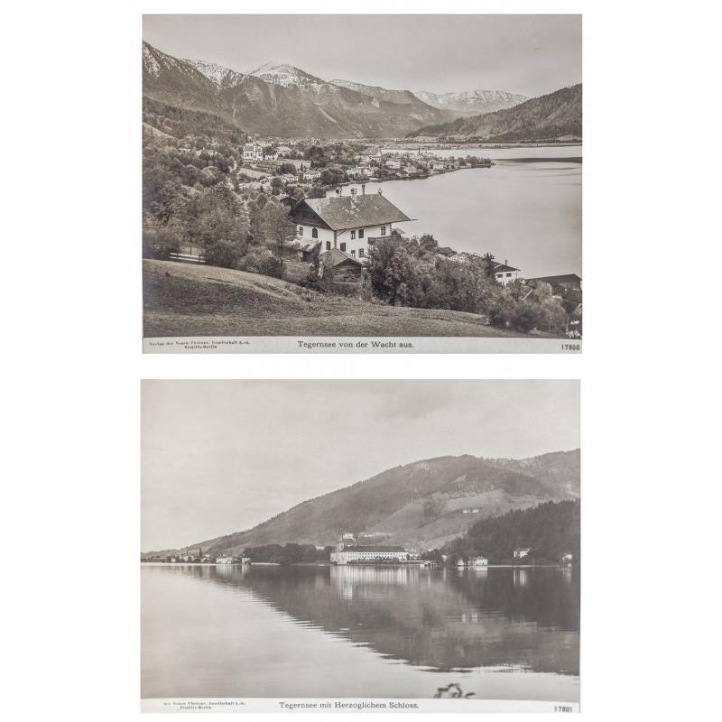 NPG: TEGERNSEE. Zwei Original-Fotografien (1908)