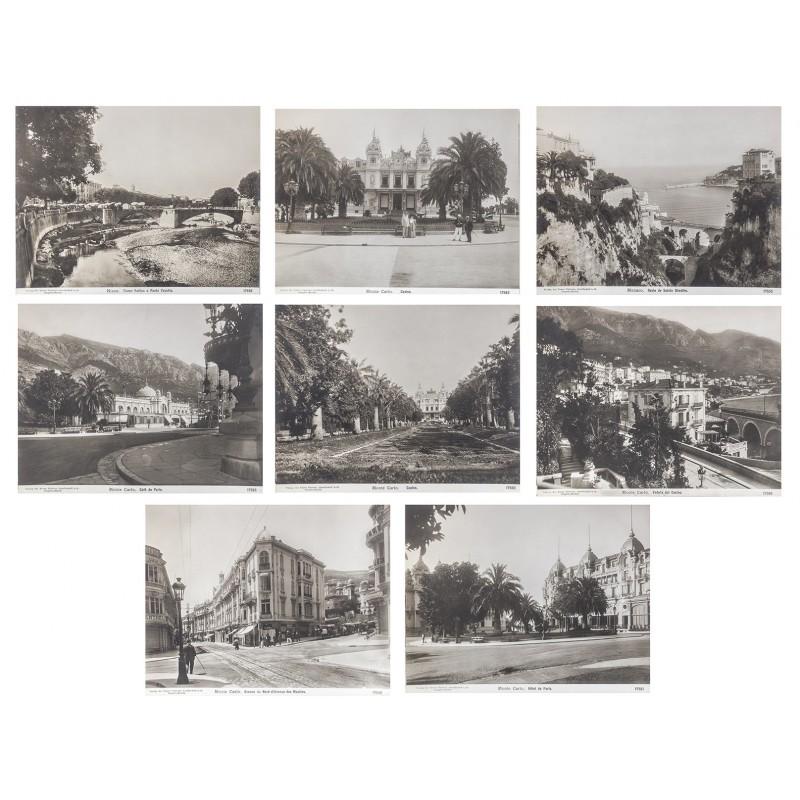 NPG: Monaco / Monte Carlo. 8 Original-Fotografien auf mattem Fotopapier (ca. 1905)