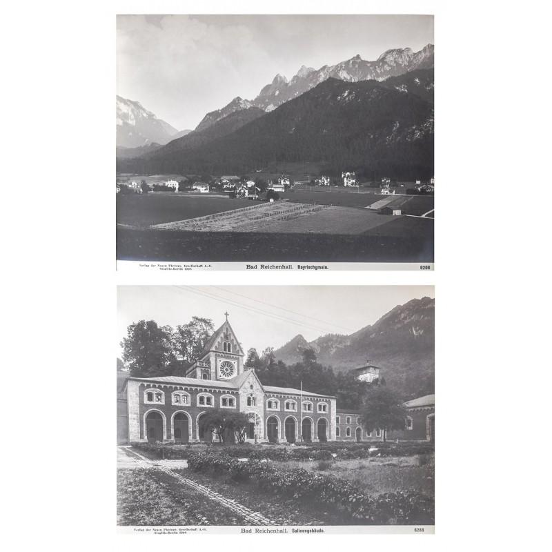 NPG: Bad Reichenhall - Bad Bayrischgmain. Zwei Original-Fotografien (1908)