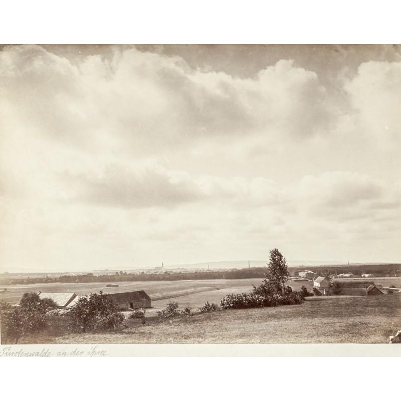 FÜRSTENWALDE an der Spree. Original-Fotografie. Albumin-Abzug (ca. 1880)