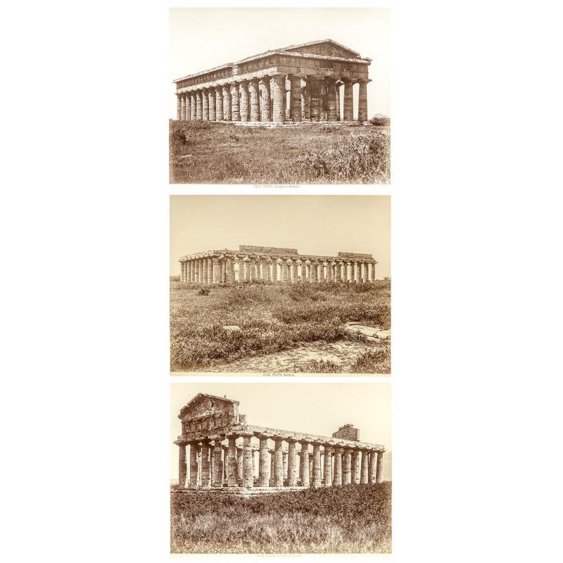 Sommer, Gorgio (zugeschrieben): PAESTUM. Drei Original Fotografien (ca. 1880).