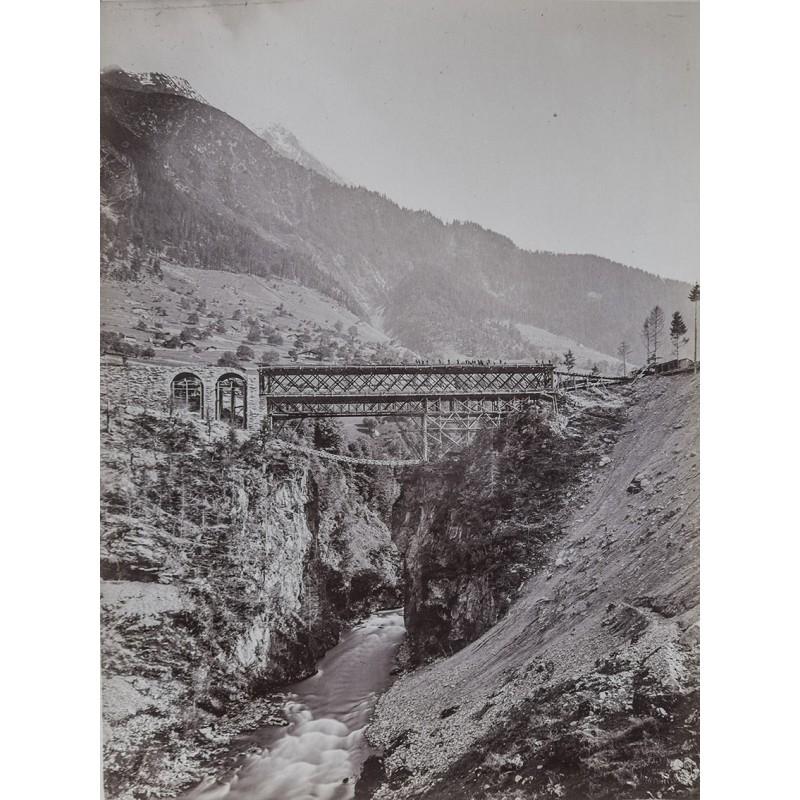 LINCK, J.: Gotthard-Bahnbrücke (ca. 1883). Original-Fotografie