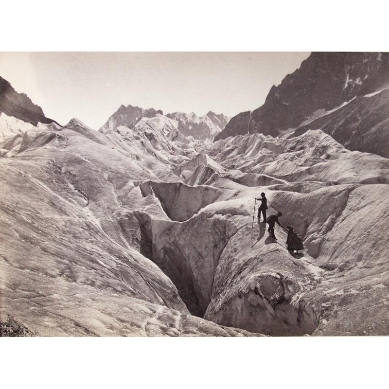 ENGLAND, William: Alpinisten auf einem Gletscher. Original-Fotografie (1863 - 1868)