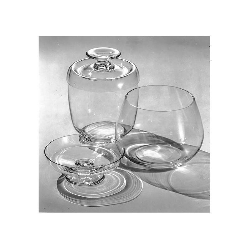 Glas Entwürfe von Professor Wilhelm WAGENFELD. Original-Fotografie.