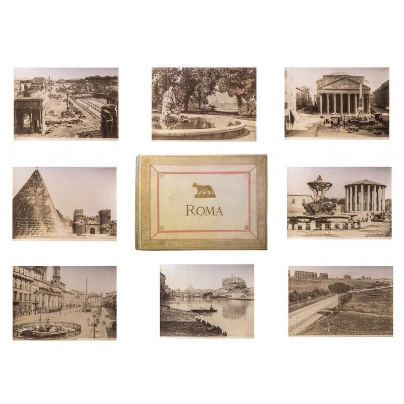 Foto-Album ROMA mit 48 Original Fotografien. Sämtlich Albumin-Abzüge (ca. 1885 - 1895).