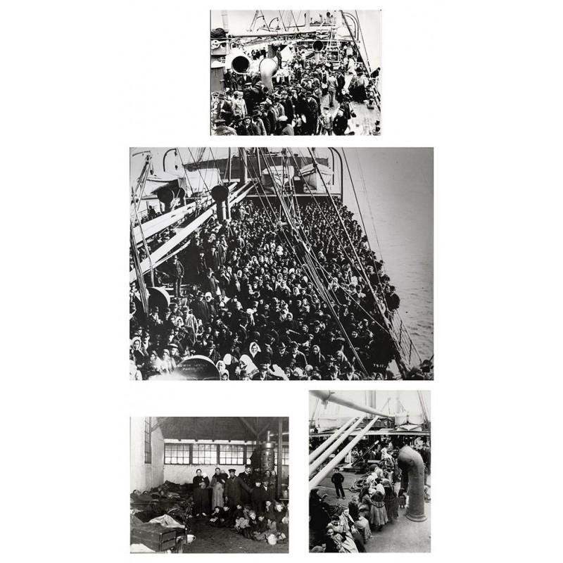 Anonym: Auswanderer. 4 Original Fotografien. Silbergelatine-Abzüge