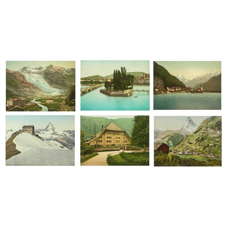 Die Schweiz auf 38 Photochrom-Tafeln