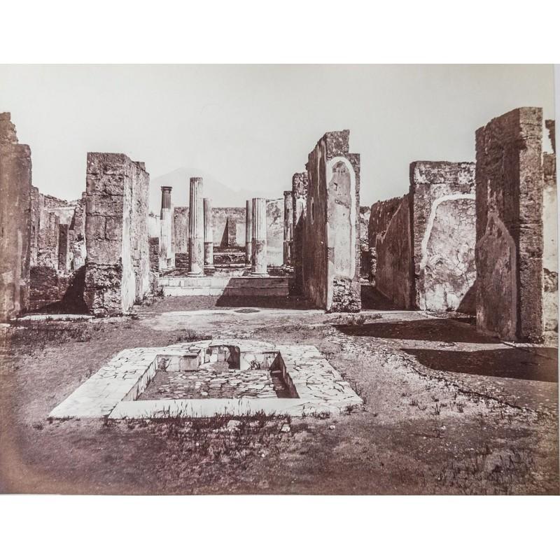 SOMMER, Giorgio: Casa di Panza i Pompei. Original Fotografie. Albumin Abzug (zwischen 1861 - 1865).