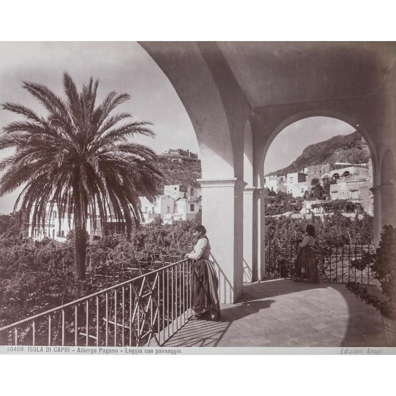Capri - Editione Brogi: Isola di Capri - Albergo Pagano. Albumin-Abzug (ca. 1885).