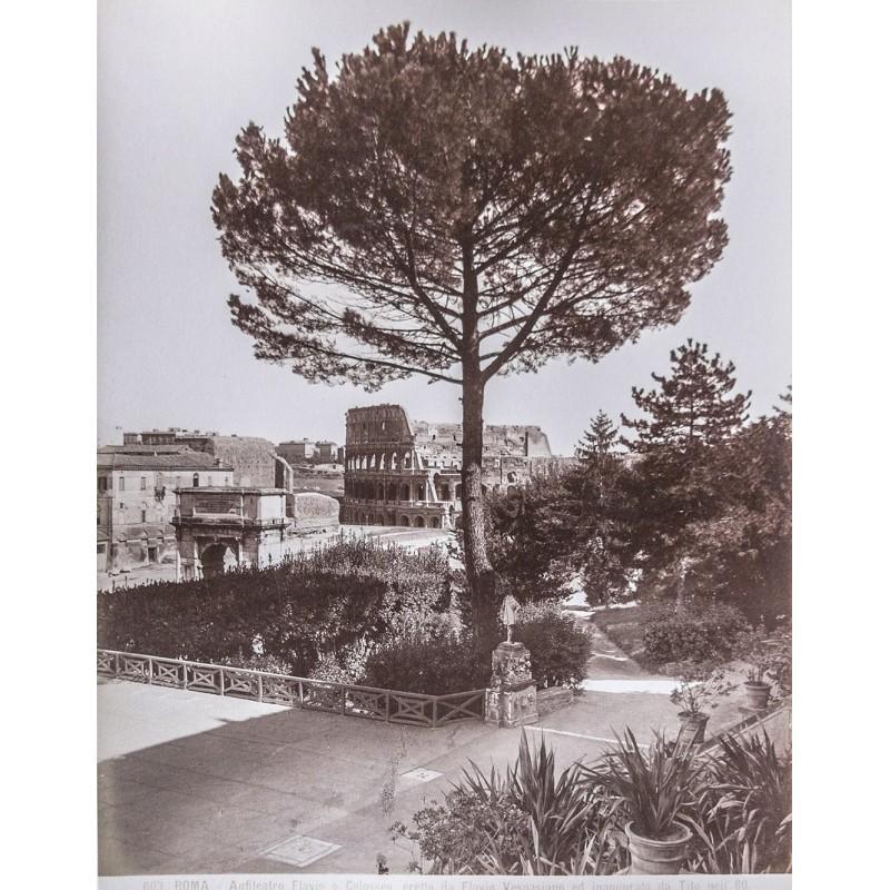 Anonymer Fotograf: Roma. Anfiteatro Flavio o Collosseo. Albumin Abzug (ca. 1880).