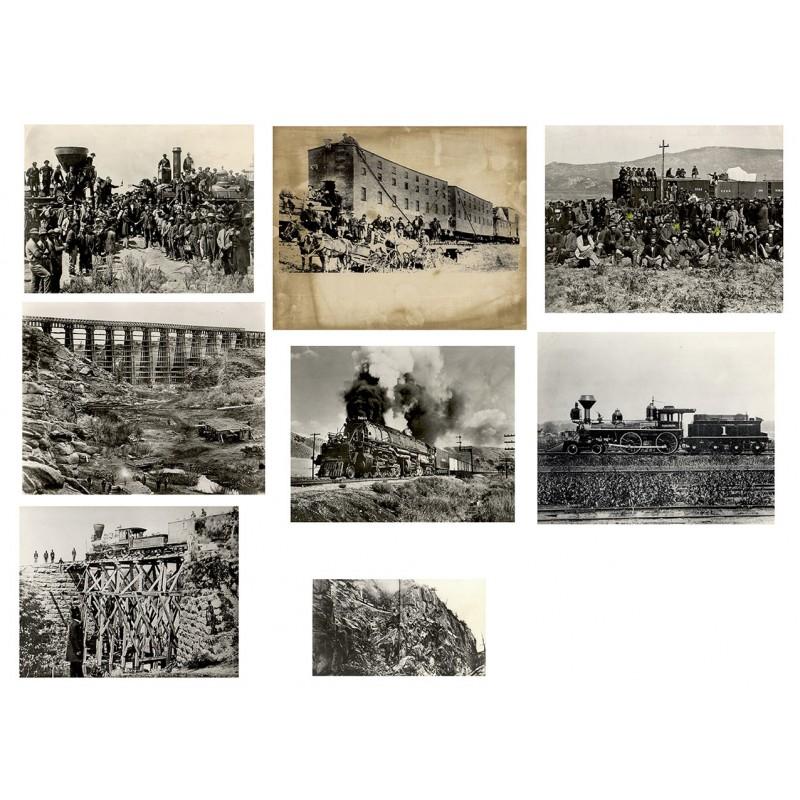 """Die Eisenbahnzeit des """"Wilden Westens"""". 8 Original Fotografien (19. Jh., Abzüge 1960er - 1970 Jahre)"""
